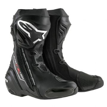 Alpinestars Supertech R Motorcycle Motorbike Race Track Boot Black